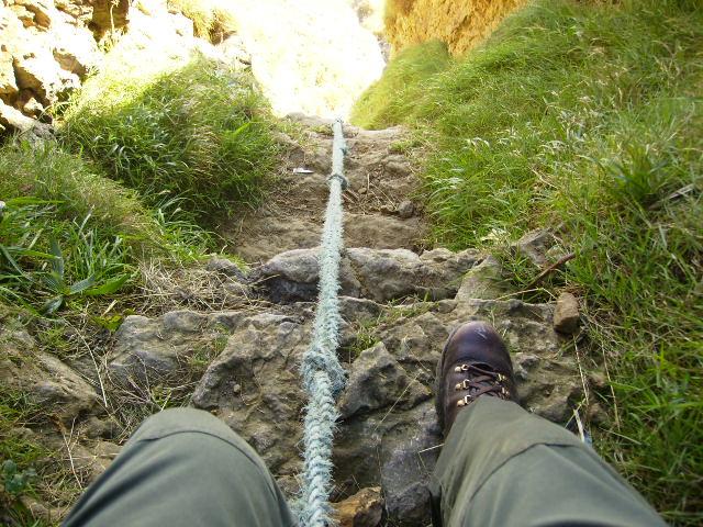 Steep ascent back up Cunstone Nab