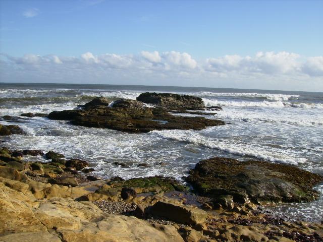 Perilous Rocks and Outer Lake at Cornelian Bay