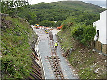 SH5848 : Construction work at Beddgelert Station by David Stowell