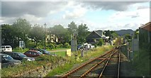 SH5639 : The main line track eastwards of the level crossing by Eric Jones