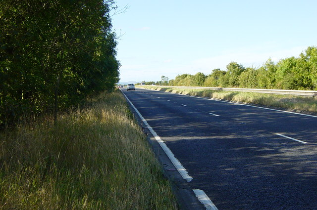 Looking along the A1