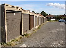 SE1321 : Garages, Field Lane Estate, Rastrick by Humphrey Bolton