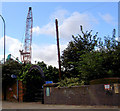 SK3788 : Scrap yard and entrance arch to 5 weirs walk. by Steve  Fareham