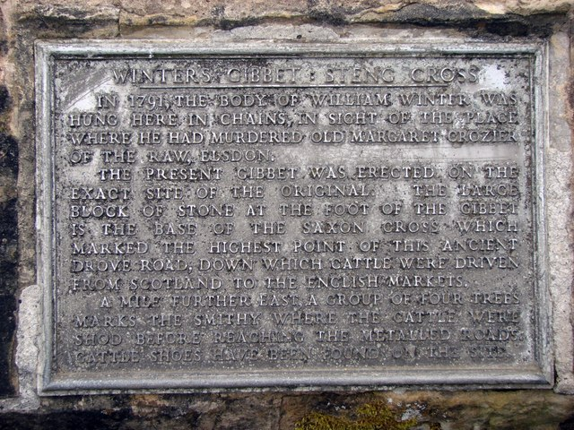The Plaque at Winter's Gibbet