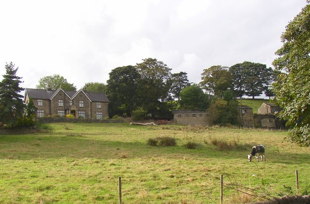 House, field and bull, Rochdale Road, Sowerby