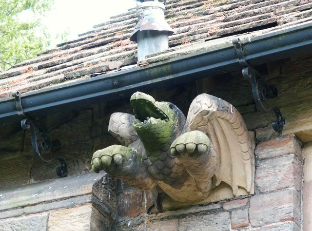St. Mary's Church Wreay - dragon gargoyle