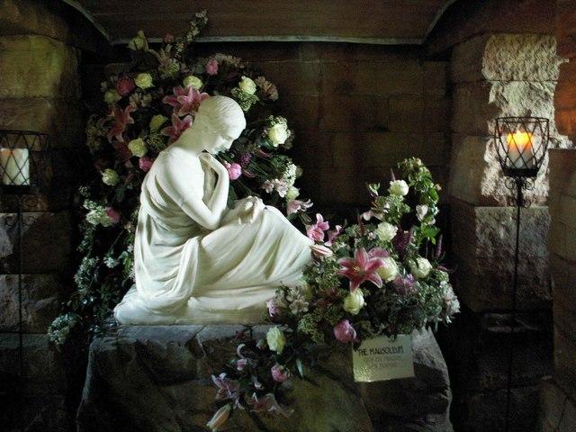 Interior of mausoleum , Wreay churchyard