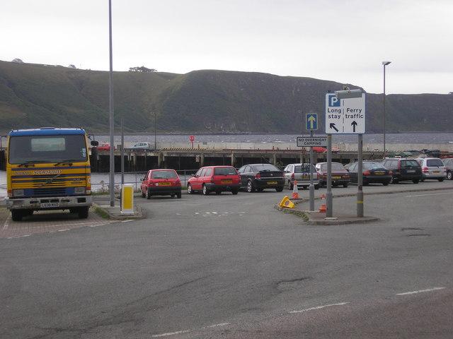 Car parking facilities at the Uig Ferry Terminal