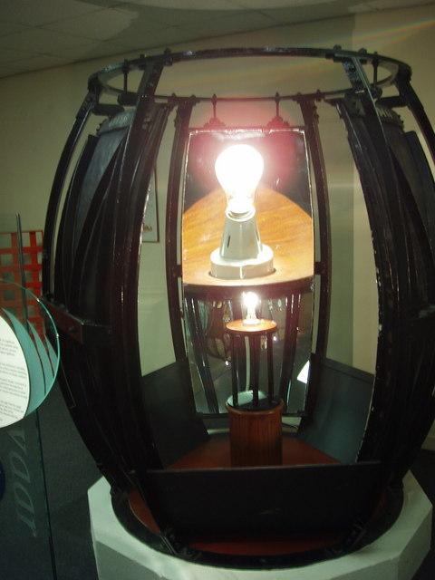Concave mirror, Scottish Lighthouse Museum
