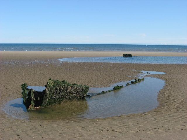 Shipwreck on Mornington Strand, Co. Meath