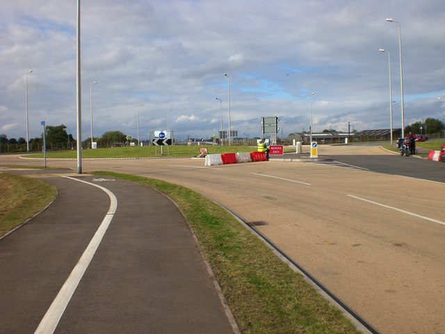 New island on Rugeley Bypass