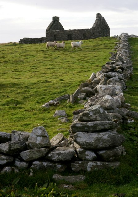 Ruined croft at Snabrough