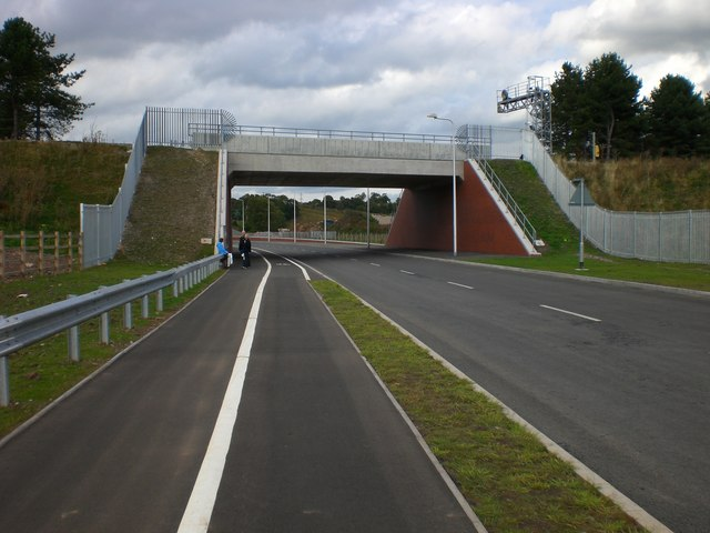 Mineral railway bridge over new Rugeley bypass
