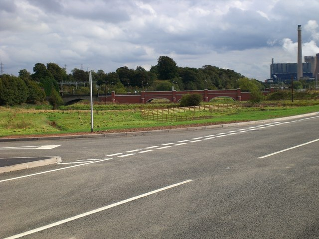 Restored bridge over River Trent from Rugeley Bypass