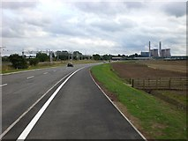 SK0419 : Rugeley Bypass looking South East towards power station by Jack Barber