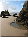 SN1403 : Monkstone beach at low tide by Pauline E