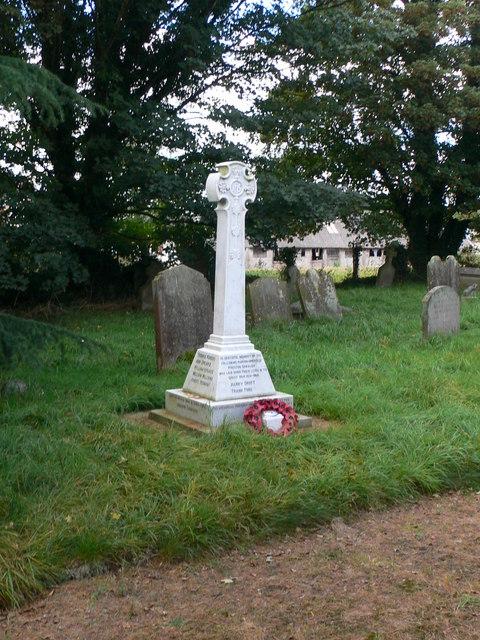 War Memorial at Preston Gubbals churchyard