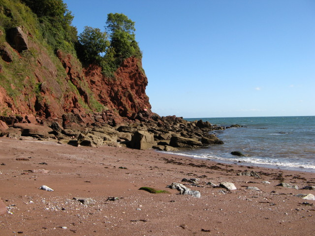 Watcombe Beach at low tide
