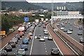 J3477 : Almost dead stop on the M2, Belfast by Albert Bridge