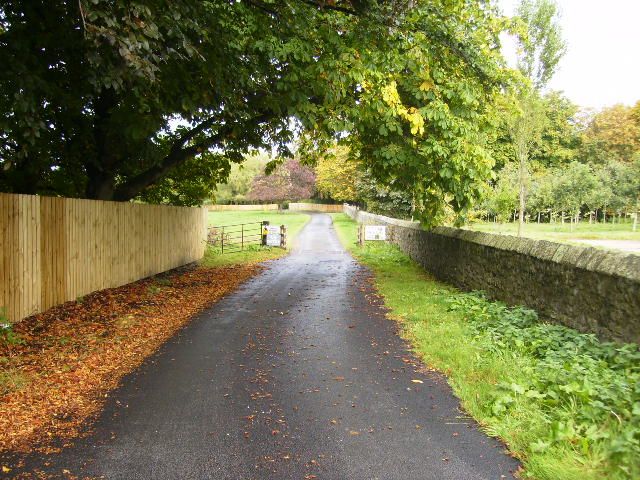 The driveway to Bowes House on the Lambton Estate