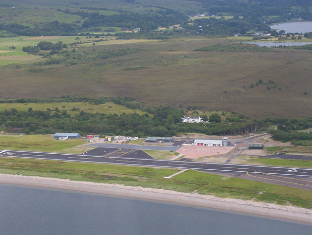 Oban Airport from 600feet