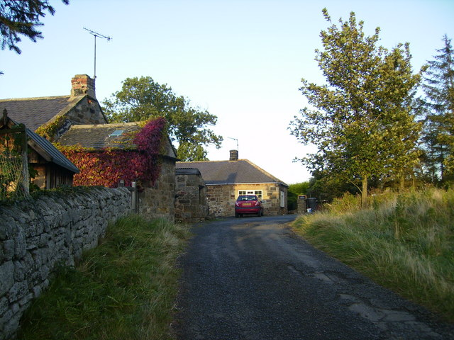 Track to cottages at Low Hedley just off the A697