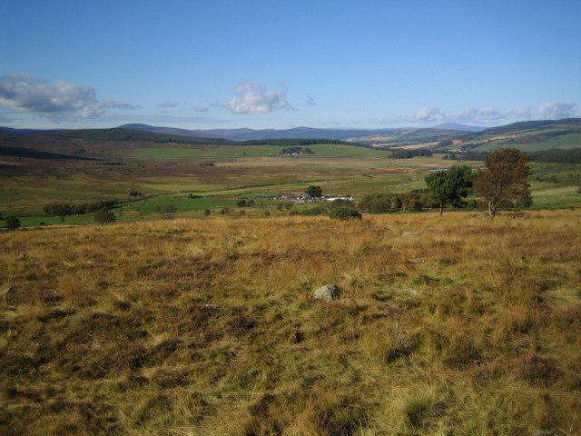 Midtown farm viewed actross moorland from Garrol Hill