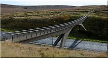 SD9814 : Footbridge Over the M62 (3). by Steve Partridge