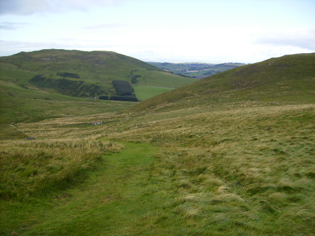 The Pennine Way near its northern end