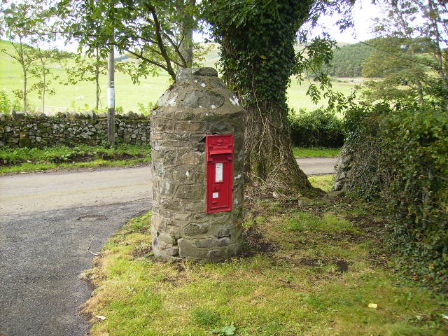Unique postbox at Hethpool