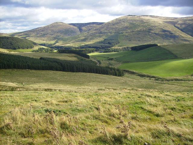 Hillside and woodland plantations west of Hethpool