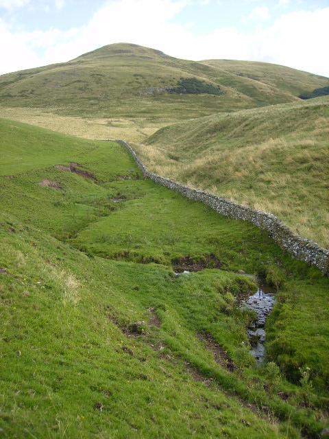 Countrup Sike - following the English/Scottish border