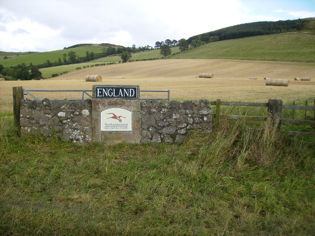 The border of the Northumberland National Park
