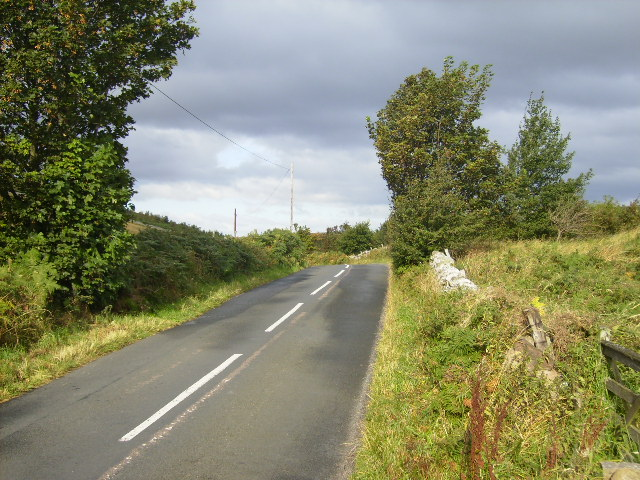 The B6351 south east of Kilham