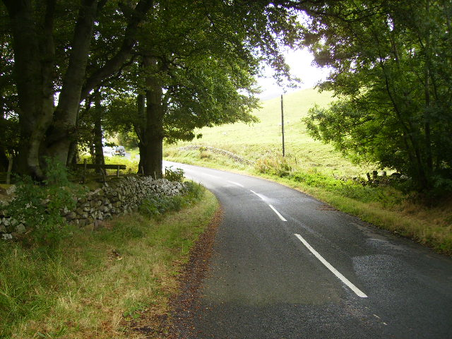 The B6351 near Canno Mill