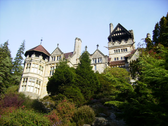 Cragside towering above the valley