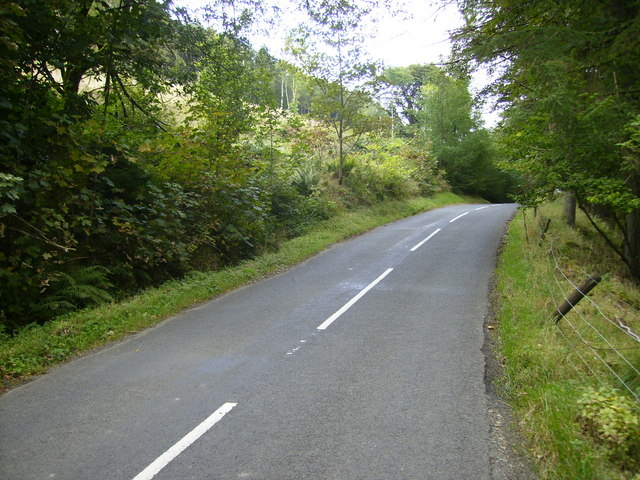 The A708 road through Moffat Dale