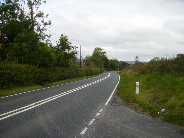 The A709 3 Km south west of Lochmaben