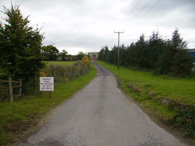 Track to Barton's House