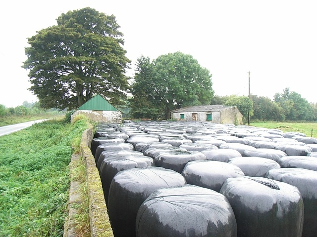 Farm Buildings & Silage Bales at Durhamstown, Co. Meath