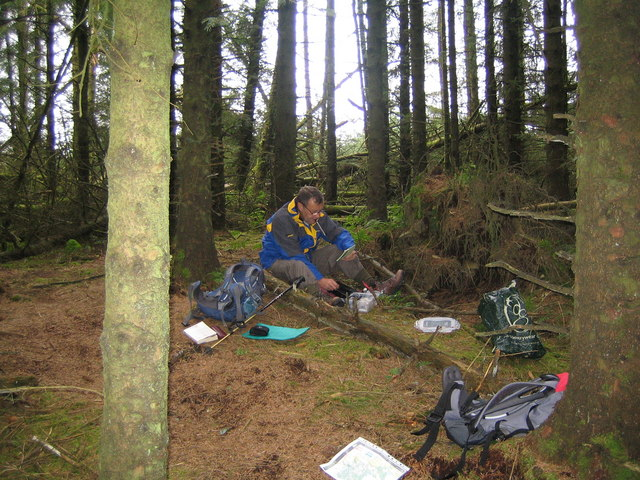 A Summits On The Air (SOTA) activation on Woodhead Hill in Mabie Forest