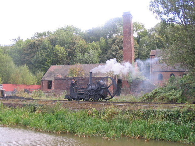 Trevithick locomotive at Blists Hill
