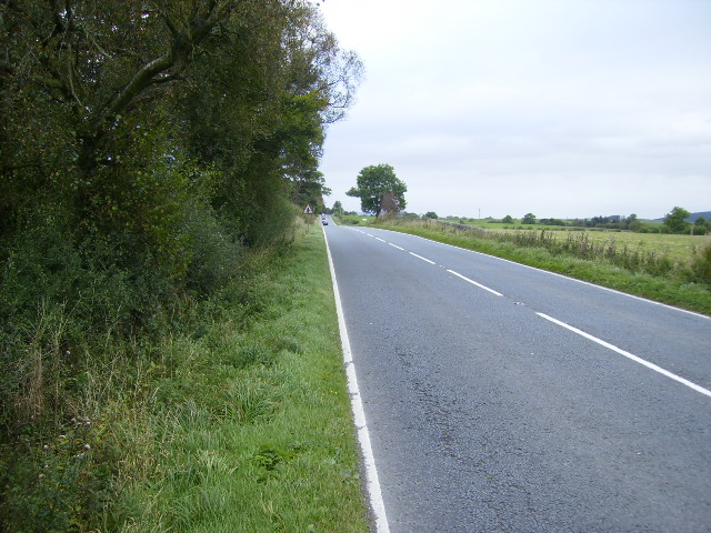 The A711 Dumfries to Dalbeattie road