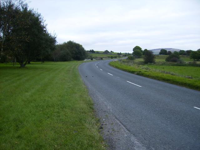The A711 road north of Dalbeattie