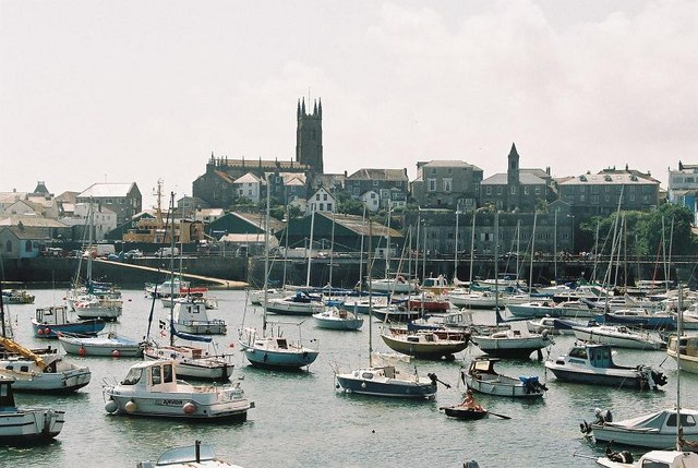 Penzance: harbour and church