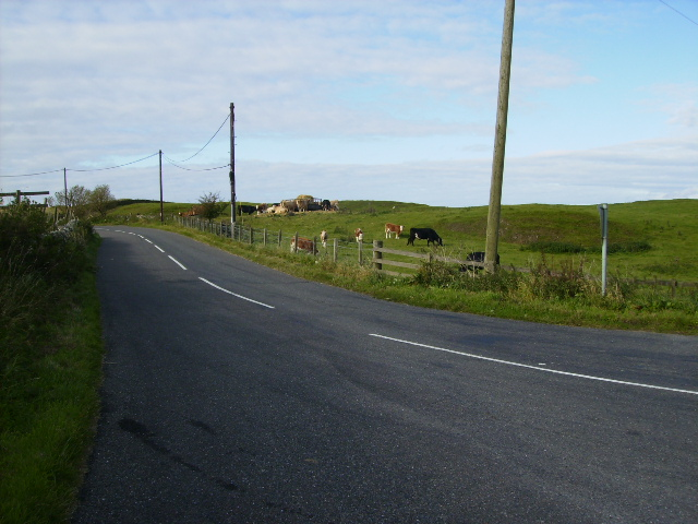 The road passing High Borgue