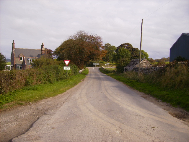 Approaching the A755 at Barharrow