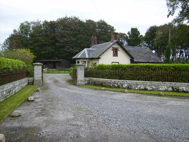Lodge house at entrance by the B727 north of Borgue
