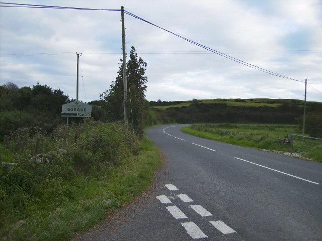 Approach to Borgue on the B727 road