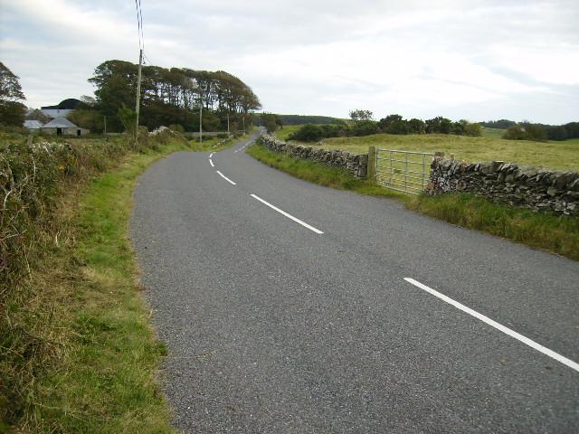 The B727 approaching Culraven Farm
